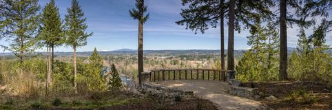 Panoramic view from Milo McVier state park Oregon stock image