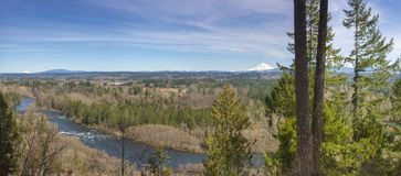 Panoramic view from Milo McVier state park Oregon royalty free stock photography