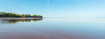 Panoramic view of Minas Basin at low tide Royalty Free Stock Images