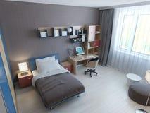 Panoramic view of minimalist children bedroom Stock Photo