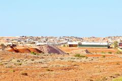 Panoramic view mining town, Andamooka, Australia Stock Photos