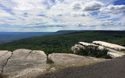 Panoramic view at Minnewaska State Park. Reserve Upstate NY during summer time Royalty Free Stock Images