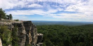 Panoramic view at Minnewaska State Park. Reserve Upstate NY during summer time Royalty Free Stock Image