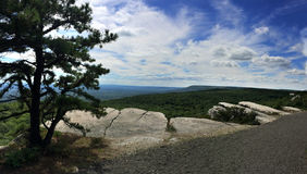 Panoramic view at Minnewaska State Park. Reserve Upstate NY during summer time Royalty Free Stock Photography