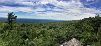 Panoramic view at Minnewaska State Park Royalty Free Stock Image
