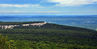 Panoramic view at Minnewaska State Park Royalty Free Stock Image