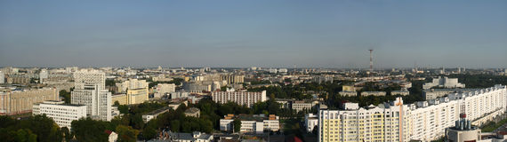 Panoramic view of Minsk Stock Images
