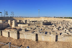 Panoramic View of the Model of Ancient Jerusalem Royalty Free Stock Photography