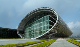 Panoramic view of modern architecture Royalty Free Stock Images