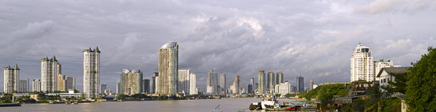 Panoramic view of modern Bangkok Stock Photography