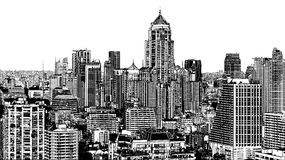 Panoramic view of modern Bangkok near Asok Royalty Free Stock Images
