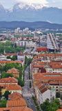 Panoramic view of a modern district in Ljubljana, Slovenia. Stock Images
