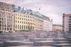 Holocaust monument in Berlin, Germany stock image