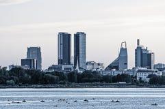 Panoramic view of modern Tallinn Royalty Free Stock Photos