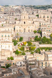 Panoramic view of Modica, with the cathedral of San Giorgio Royalty Free Stock Images
