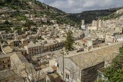 Panoramic view of Modica City. Ragusa - Italy Stock Photos