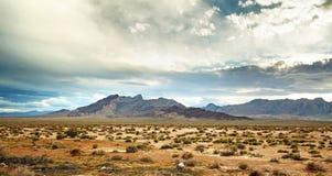 Panoramic view of the mojave desert Royalty Free Stock Photos