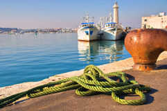 Panoramic view of Molfetta. Puglia. Italy. Royalty Free Stock Image