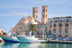 Panoramic view of Molfetta. Puglia. Italy. Royalty Free Stock Images