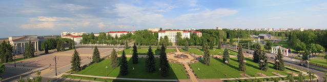 Panoramic view of Molodechno Stock Photos