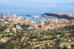 Aerial view of Monaco Royalty Free Stock Image