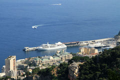 Panoramic View of Monaco Stock Photography