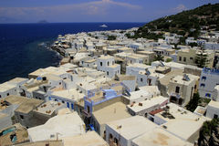 Panoramic view from the Monastery of Panagia Spiliani on Nisyros Island. Greece Royalty Free Stock Images