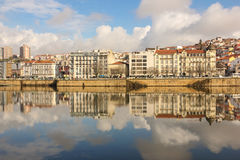 Panoramic view and Mondego river. Coimbra. Portugal Stock Images