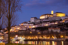 Panoramic view and Mondego river. Coimbra. Portugal Royalty Free Stock Photos