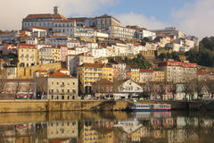 Panoramic view and Mondego river. Coimbra. Portugal Stock Photography