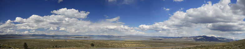 Panoramic view of Mono Lake in California Stock Images