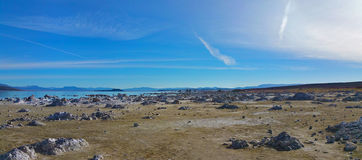 Panoramic view of Mono Lake, California Stock Photo