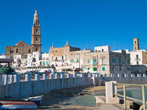 Panoramic view. Monopoli. Apulia. Royalty Free Stock Photos