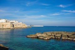 Panoramic view of Monopoli. Puglia. Italy. Stock Image