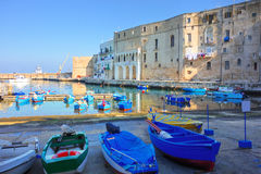 Panoramic view of Monopoli. Puglia. Italy. Royalty Free Stock Images