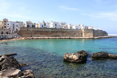 Panoramic view of Monopoli. Puglia, Southern Italy. Sea in summer. Italian resort Stock Photography