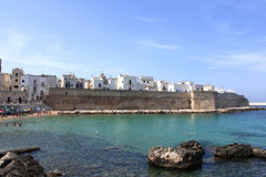 Panoramic view of Monopoli. Puglia, Southern Italy. Sea in summer. Italian resort Stock Photos