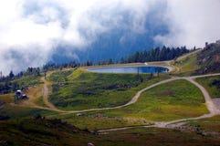 Panoramic view on Mont Blanc massif Stock Image