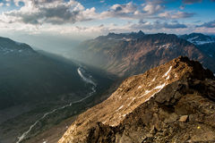 Panoramic view from Mont Pers Royalty Free Stock Photography