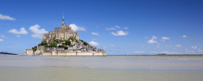 Panoramic view of Mont-Saint-Michel Stock Images