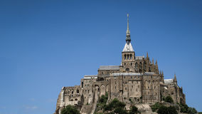 Panoramic view of Mont-Saint-Michel monastery Royalty Free Stock Photos