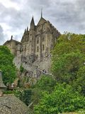 Panoramic View of Mont Saint Michele, Normandy, France stock photography