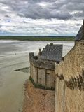 Panoramic View of Mont Saint Michele, Normandy, France. Panoramic View of Mont Saint stock photos