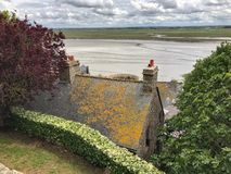 Panoramic View of Mont Saint Michele, Normandy, France. Panoramic View of Mont Saint royalty free stock images