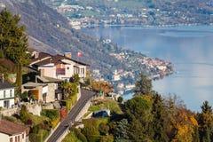 Panoramic view on  Monte Bre, Lugano, Switzerland Stock Photos