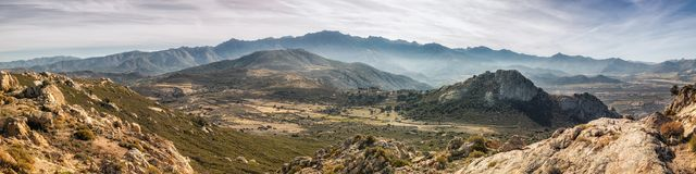 Panoramic view of Monte Grosso and the mountains of Corsica Royalty Free Stock Photo
