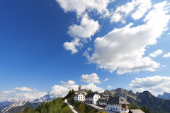 Panoramic View of Monte Lussari - Friuli Italy Royalty Free Stock Image