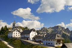Panoramic View of Monte Lussari - Friuli Italy Royalty Free Stock Images