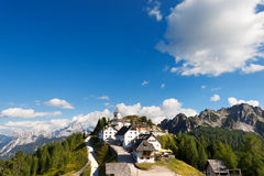 Panoramic View of Monte Lussari - Friuli Italy Stock Image