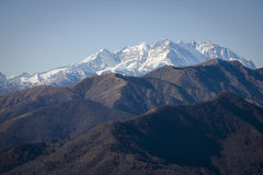 Panoramic view of monte rosa Royalty Free Stock Images